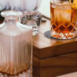 Dusty Barrel Distillery glass and decanter